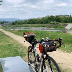 今日は やっぱりグラベルロード 「ルイガノ号」 ~賀茂川で ちょいグラベル~