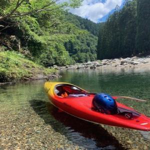 今日は ちょくちょくのカヤック日和  ~夏はやっぱり 美山で川遊び~