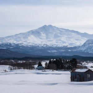 鳥海山のある風景(冬師付近)