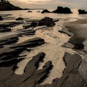 冬の釜磯海岸