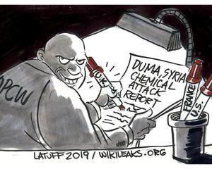 ドゥーマ シリア化学兵器攻撃の嘘、ばれる。ウィキリークス リーク