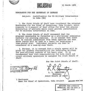 1960年 米軍は キューバとの戦争を挑発したかった ABCニュース