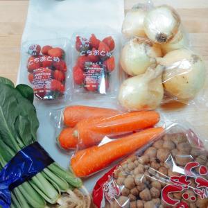 [果物と野菜の安いスーパーはなまる]早朝散歩とムスメごはん