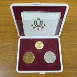 1967年 ユニバーシアード東京大会 記念メダル 金銀銅セット 買取させていただきました!