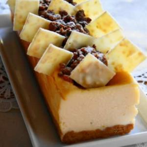 チーズケーキ、ベイクドと言うべきか、テリーヌと言うべきか…?