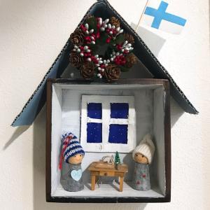 セリアのウォールボックスでクリスマスドールハウスを作りました
