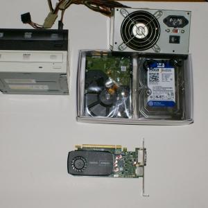 パソコンの修理は修理代金が高いので準備HDD、電源、DVDドライブ、グラフィック