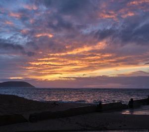 ハワイ朝活♪ワンコとSUP朝日と撮りたい