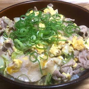 豚肉と白菜の卵とじ丼