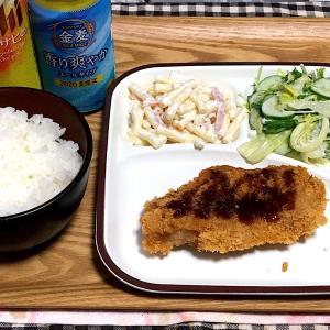☆トンカツ ☆マカロニサラダ ☆サラダ ☆ビール