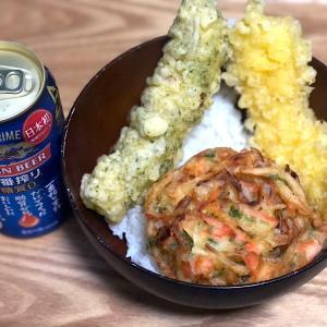 6月15日 夕食 ☆天丼 ☆ビール