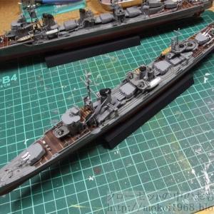 フジミ 1/350 艦NEXT 日本海軍 駆逐艦 雪風 ウェザリング等