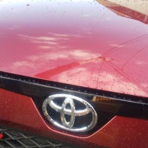 トヨタライズ 年明け初の洗車 少し気になる点他