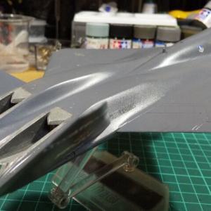 プラッツ 1/72 試作戦闘機 YF-23 塗装