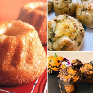 1DAY  LESSONのご案内☆オレンジクグロフ&わかめスープパン&かぼちゃとココアのマフィン