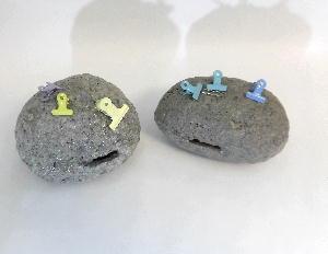 金運銀行景品・隕石の貯金箱
