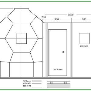 自宅療養型ハウス 立面図