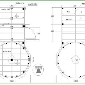 天円地方型ハウス 床伏図