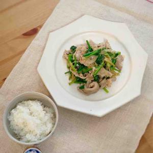 【米油部】豚肉とほうれん草の炒めもの