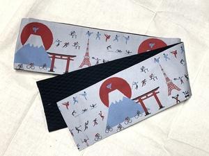 この夏に締めたいオリンピック柄の半巾帯