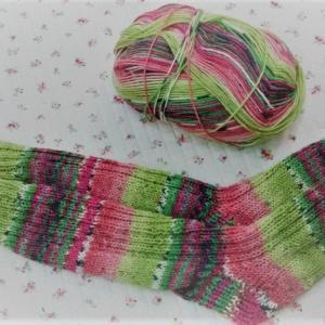 OPAL糸で靴下を編みました。♯編み物♯手編み靴下♯OPAL♯毛糸♯棒針♯かぎ針♯編み物教室♯弁天手芸店♯弁天通り♯前橋