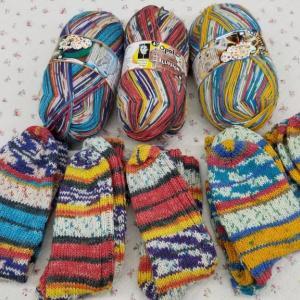 5足目の靴下が編めました。♯編み物♯手編み靴下♯OPAL♯毛糸♯棒針♯かぎ針♯編み物教室♯弁天手芸店♯弁天通り♯前橋