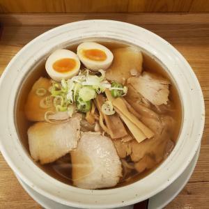 【満月@三鷹】チャーシューワンタンメン (980円)+煮たまご(100円)