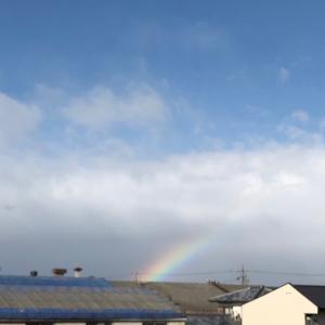 虹が見れて椿さまへ参拝
