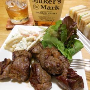 牛肉で晩酌