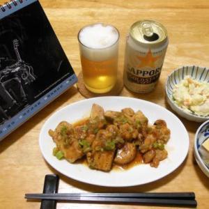 鶏むね肉の甘酢葱だれ炒めで晩酌