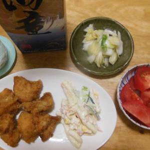 福島県産のトマトなどで晩酌