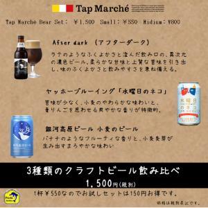 ☆ クラフトビール飲み比べ