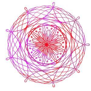 幾何学模様を書くのにハマってます!