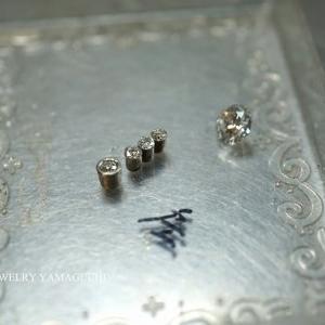 【pt900】お持ち込みのダイヤでペンダントトップを製作