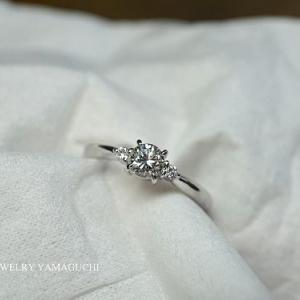 【Pt900】シンプル王道な婚約指輪