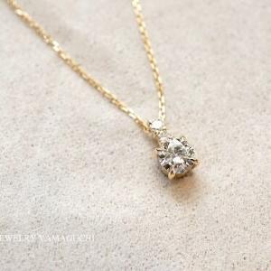 【K18】ダイヤをプチネックレスへとジュエリーリフォーム