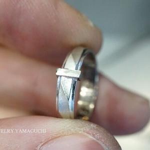 【マシンカットタイプ】結婚指輪のサイズ直し例