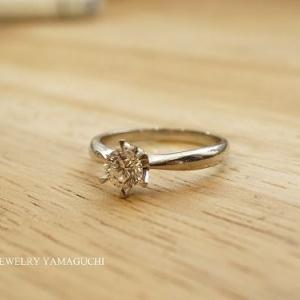 プラチナのダイヤリングをゴールドの指輪へジュエリーリフォーム