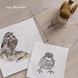 羊毛フェルトの小鳥を作るのに設計図が書ける理由