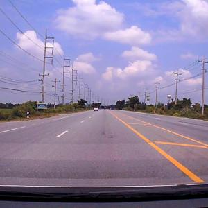 Driving in Suphanburi, Thailand