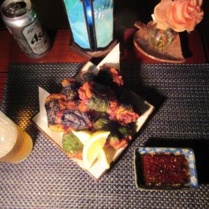★新潟 こうゆう丸釣果6K真鱈の中落ちで作る大葉・韓国海苔巻き薩摩揚げでキンキンの生ビール一杯🎵