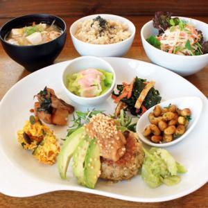 ランチメニュー(2019/2/26〜3/10)キヌアと豆腐のハンバーグ(グルテンフリー)Quinoa & Tofu Humburg steak(gluten free)