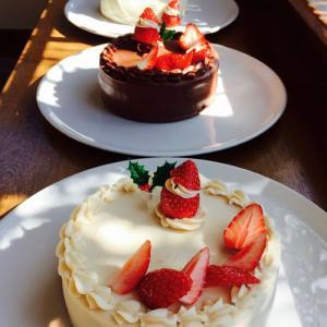 クリスマスケーキ(イチゴ、チョコ、GFザッハトルテ)