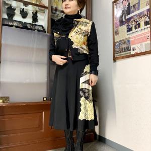 先日発表した着物リブブルゾンの着こなし紹介 黒留袖リブブルソンコーディネート