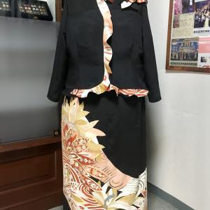 【新作留袖ドレス】新デザイン柄フリル2ピーススタイル
