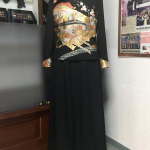 【新作留袖ドレス】ジャケット柄配置2ピーススタイル 赤金 13号