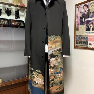 【Dahlianty  着物コート】黒留袖 ステンカラー フルオーダーサンプル
