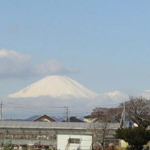 今日の富士山とステーキガスト