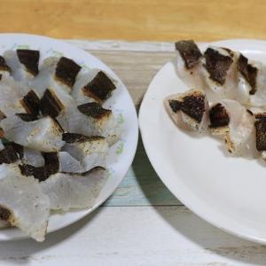 釣った魚を熟成させて、お刺身で食べました シマゾイ アブラコ