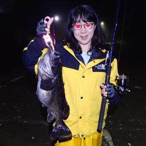 嫁が先月釣ったクロソイがJGFA記録(陸 12ポンド)に認定されました